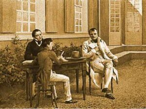 napoleone with Las Cases