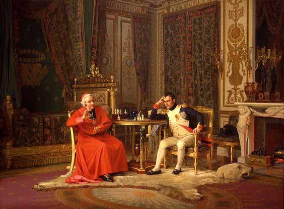 napoleone gioca a scacchi
